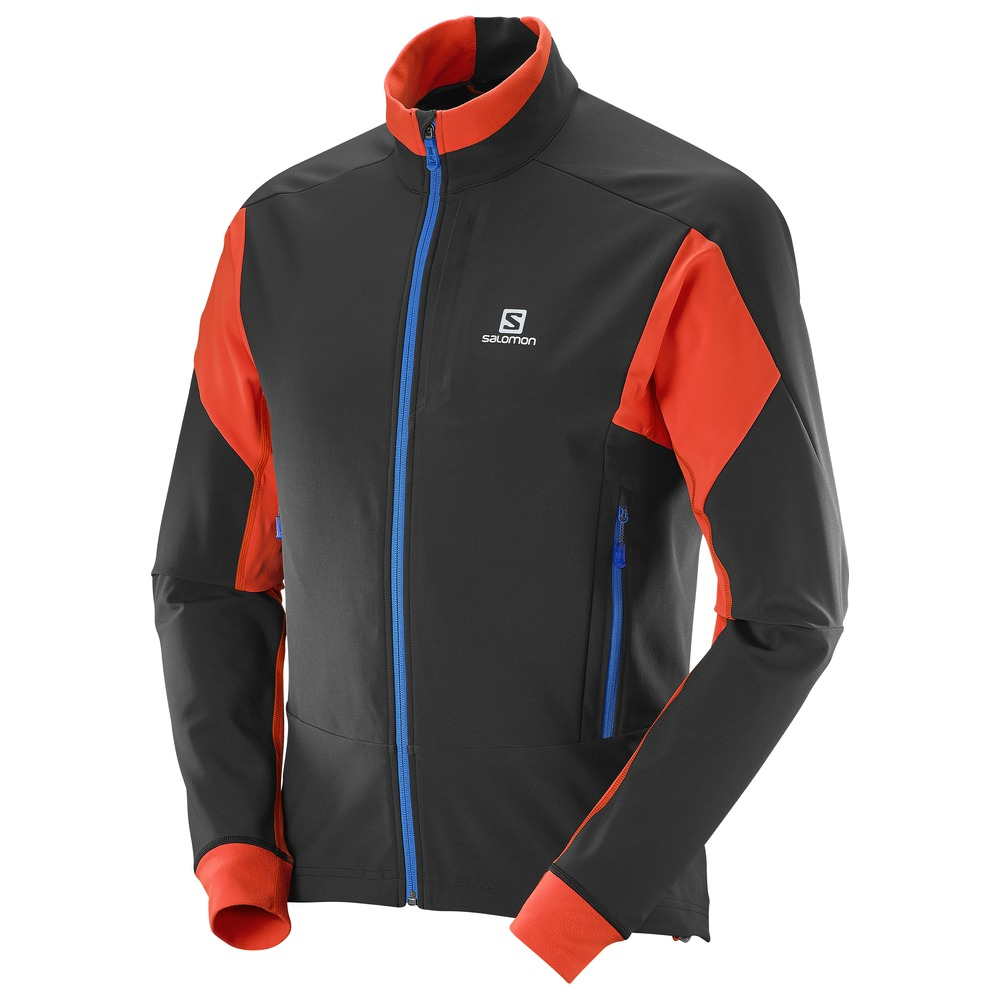 Куртка для беговых лыж SALOMON Momentum Softshell Jacket M BK/Vi Or  (16/17)